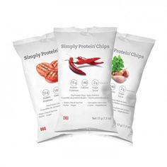 Simply Protein Chips- BBQ Tomato, Spicy Chili and Herb & Garlic High Protein Snacks, High Protein Low Carb, Protein Pack, High Protein Recipes, Protein Foods, Healthy Snacks, Healthy Eating, High Protien, Protein Nutrition