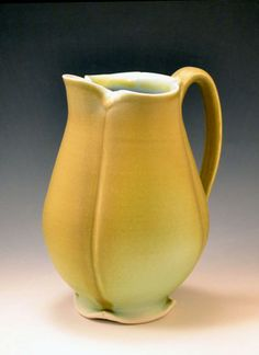 "MOTHER'S DAY GIFT SUGGESTION: This cheery pitcher by Dane Hodges, has a bit of a art deco feel. It is in our current exhibition ""In Full Bloom"". http://www.shop-baltimoreclayworks.org/collections/in-full-bloom/products/pitcher-by-dane-hodges-hds1"