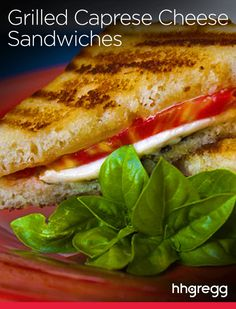 Your favorite childhood sandwich with a twist! Try @charbroil's Grilled Caprese Cheese Sandwich.