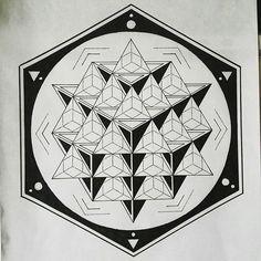 From @s.amadhi -  64 tetrahedron  Check out this amazing artisr ⚪⚫#sacredgeometry #artwork #art #drawing #design #blackandwhite #bw #geometryart #geometry #mandala #symmetry #pattern #spiritual #linework #dotwork #tetrahedron #startetrahedron #64tetrahedron #hexagon #circle #triangle #sacred #Regrann