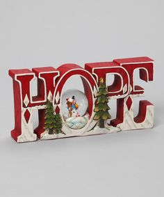 'Hope' Snowman Figurine by Roman, Inc. on zulily blow-out sale: home