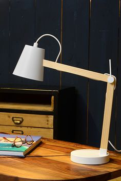 Lucide table lamp Tony in wood look white Tony LucideLucide - Metarnews Sites Desk Lamp, Table Lamp, Suspension Metal, Decoration, Indoor, Lighting, Home Decor, White Wood, Products