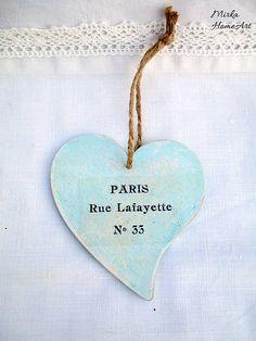 Shabby Paris srdce II.