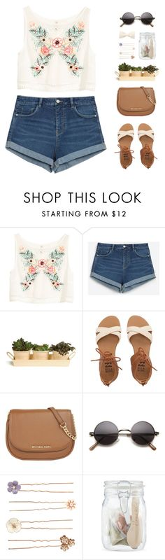 """a stranger's hand clutched in mine"" by intanology ❤ liked on Polyvore featuring H&M, Zara, Garden Trading, Billabong, MICHAEL Michael Kors, Accessorize, Boska and Forever 21"