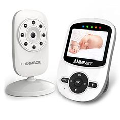 Video Baby Monitor with Digital Camera, ANMEATE Digital 2.4Ghz Wireless Video Monitor with Temperature Monitor, 960ft Transmission Range, 2-Way Talk, Night Vision, High Capacity Battery ** Want additional info? Click on the sponsored image.