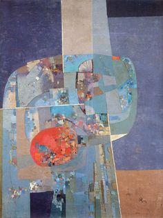 Manuel Felguérez, 'Vuelo espacial', 1959. México / arte, pintura, generación de la ruptura