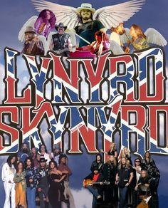 Lynyrd Skynyrd -- seen 'em live! Allen Collins, Gary Rossington, Lynyrd Skynyrd, Ronnie Van Zant, Black Label Society, Classic Rock And Roll, Roy Orbison, Rock And Roll Bands, Music Album Covers