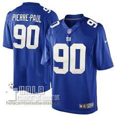 Camisetas Nfl Baratas Pierre-Paul New York Giants #90 Azul  €32.9