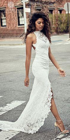 b2efa97f24d5 32 Best High neck wedding dresses images | Dream wedding, Wedding ...