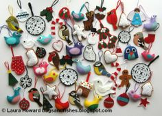 Bugs and Fishes by Lupin: LOTS of Felt Christmas Decorations!