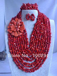 Fashion coral beads jewelry set