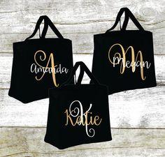Etsy Personalized Bridal Tote Bag, Bridesmaid Tote Bag, Maid of Honor Tote Bag, Monogrammed Tote Bag Custom Tote Bags, Monogram Tote Bags, Canvas Tote Bags, Custom Totes, Personalized Tote Bags, Bridesmaid Tote Bags, Bridesmaid Gifts, Maid Of Honour Gifts, Jute Bags