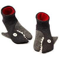 Hand Made Shark Slippers—Sense of humor required…these silly slippers come in all sizes so you can get a pair for everyone in the family to thank them for their generosity.