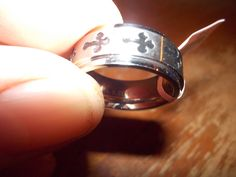 Stainless Steel Spinning Crosses Ring