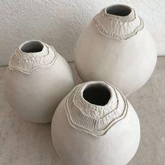 Lori Ceramics, PHX AZ Coil pots getting ready to be sanded.