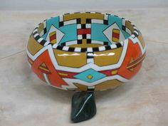 Southwestern Bangle Hand Painted  Contemporary by MicheleACaron, $399.00