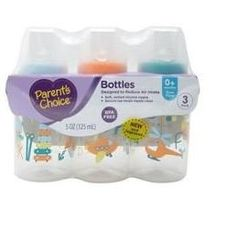 Parents Choice 3 Pack of 5 Ounce Baby Bottles Slow Flow Nipple Baby Doll Diaper Bag, Baby Dolls, Parents Choice, Bottle Feeding, Baby Essentials, Baby Bottles, Baby Feeding, Baby Care, Baby Items