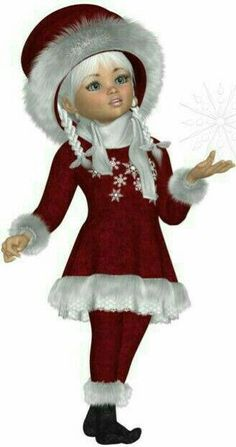 Gold Standard Porcelain China Value Christmas Elf, Christmas Pictures, Vintage Christmas, Pretty Dolls, Cute Dolls, Elephant Love, Little Designs, Cute Baby Girl, Girl Cartoon