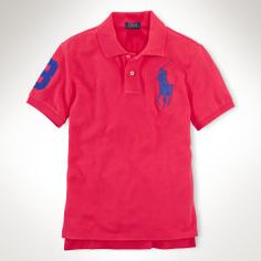 Custom-Fit Big Pony Polo Shirt - Polo Shirts - RalphLauren.com