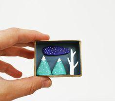 3D+winter+scenery++Poket+landscape+hand+sculpted+by+sweetbestiary,+£17.00