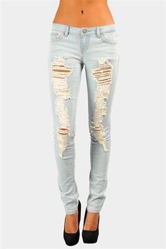 Cameron Destroyed Jean - Blue http://www.studentrate.com/studentrate/fashion/fashion.aspx