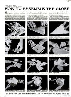 Buckminster Fuller's Dymaxion Projection featured in this LIFE article  in 1943. Make your own!