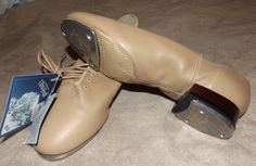 LEO'S SPLIT JAZZ TAP SHOES STYLE 8199 ULTRATONE TAN LEATHER SIZE 10 M ~  NEW! #LeosDanceWear