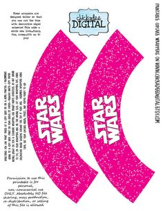 Girly Pink Star Wars Cupcake ....this is what I am doing for Brieanna's party, pink and black Star Wars!