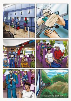 Je travaille toujours sur le manuel scolaire pour les éditions JSF^^. Je dois faire diverses planches BD et illustrations pour décrire le voyage d'un jeune homme au Maroc selon un cahier des charges bien précis :) J'en ai encore à vous montrer dans les...