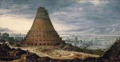 The story of the construction of a tower in Babel, which resulted in the confounding of language has also confounded modern scholars. The Book of Genesis tells of a time in which all of the world&rsqu
