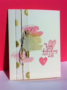Pam's CAS card: Work of Art and Gold Fancy Foil Vellum. All supplies from Stampin' Up!