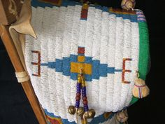 Tsitsistas cradleboard, detail. May or may not be a replica.