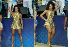 Quem marcou presença também foi a rainha de bateria, Juliana Alves, que colocou todo mundo para danç...