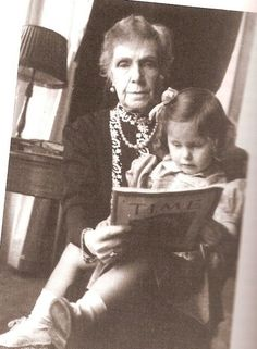"Dona Gerarda with her great-grandmother--her father's grandmother--Infante Eulalia.  Gerarda and her siblings weren't titled ""Infanta""  or ""Infante"" because their parents' marriage was considered morganatic, I believe.  Instead, they were titled ""Dona"" or ""Don"" de Orleans-Borbon y Parodi-Delfino."
