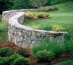 Front Garden Landscape, Landscape Curbing, Landscape Walls, Landscape Design, Garden Design, Garden Retaining Wall, Concrete Retaining Walls, Landscaping Retaining Walls, Landscaping On A Hill