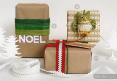 Cool present wraping for 2013.  Could use scrap fleece for words or to tie around gift.