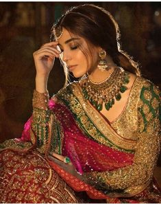 indian wedding dresses with sleeves Muslim Wedding Dresses, Pakistani Bridal Dresses, Indian Wedding Outfits, Pakistani Outfits, Bridal Outfits, Indian Dresses, Indian Outfits, Bridal Anarkali Suits, Bridal Lehenga
