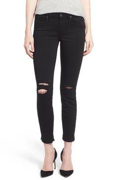 Paige 'Verdugo' Undone Hem Crop Jeans