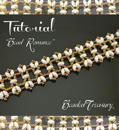 """This listing is for a digital Photo Tutorial. Longing for some romance? This beaded lace bracelet - """"Bead Romance"""" - is the answer! :) You can learn to make this beautiful bracelet yourself with this detailed tutorial!"""