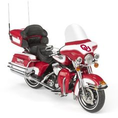 Highway 61 / Oklahoma Sooners Football Harley-Davidson Ultra Classic Electra Glide Diecast Motorcycle 1:12 by Highway 61 / Diecast Promotions, http://www.amazon.com/dp/B004G23IJS/ref=cm_sw_r_pi_dp_at5Nrb003S5XB