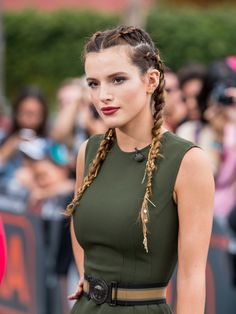 Bella Thorne French Braid - Bella Thorne looked oh-so-cool with her multiple French braids!