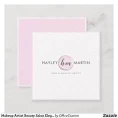 Shop Makeup Artist Beauty Salon Elegant Modern Pink Square Business Card created by OfficeCustom. Beauty Elegant, Artist Branding, Vintage Makeup, Hair And Makeup Artist, Monogram Styles, Holiday Cards, Business Cards, Salons, Things To Come