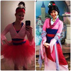 My Mulan running costume outfit for the Disney Princess Half Marathon!  Mulan Halloween homemade costume.