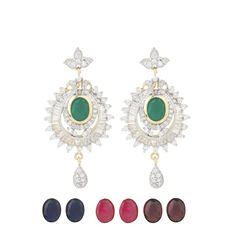 Happiness collection colour changeable party dangler earrings for women dilan jewels