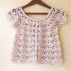 ergahandmade: Crochet Summer Cardigan + Diagrams + Free Pattern