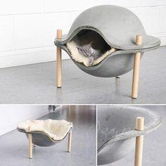 Concrete Cat Bed by Geerke Sticker. via: @designwanted #p_roduct