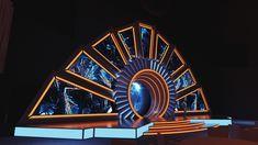 Corporate stage set on Behance – Decoration Event Bühnen Design, Tv Set Design, Stage Set Design, Church Stage Design, Stand Design, Event Design, Plateau Tv, Concert Stage Design, Exhibition Booth Design