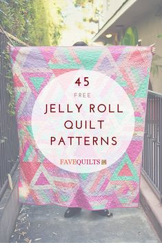 Free Jelly Roll Quilt Patterns that you'll want to save for later!