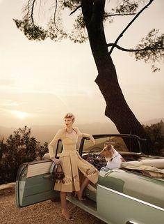 Hollywoodland | US Vogue I March 2008 I starring Karen Elson & Casey Affleck I Editor: Grace Coddington I Photographer: Mario Testino.