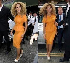 Beyonce wearing peplum